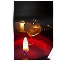 Candle lit Love Poster