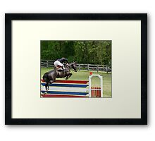 Grand Prix Horse and Rider on Course Framed Print