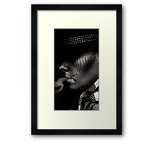 To some, the cigarette is a portable therapist. Framed Print