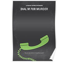 No328 My Dial M for Murder minimal movie poster Poster