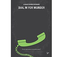 No328 My Dial M for Murder minimal movie poster Photographic Print