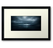 The Darkness Comes Framed Print