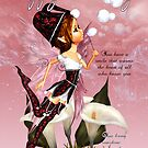 Fairy Birthday Card - Fairy Blowing Bubbles Birthday Card by Moonlake