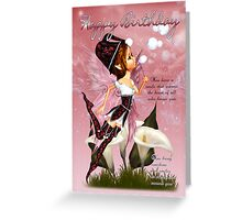 Fairy Birthday Card - Fairy Blowing Bubbles Birthday Card Greeting Card