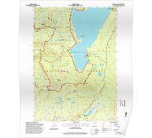 USGS Topo Map Oregon Waldo Lake 281984 1997 24000 Poster