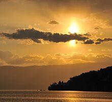Ohrid Sunset by Kasia Nowak