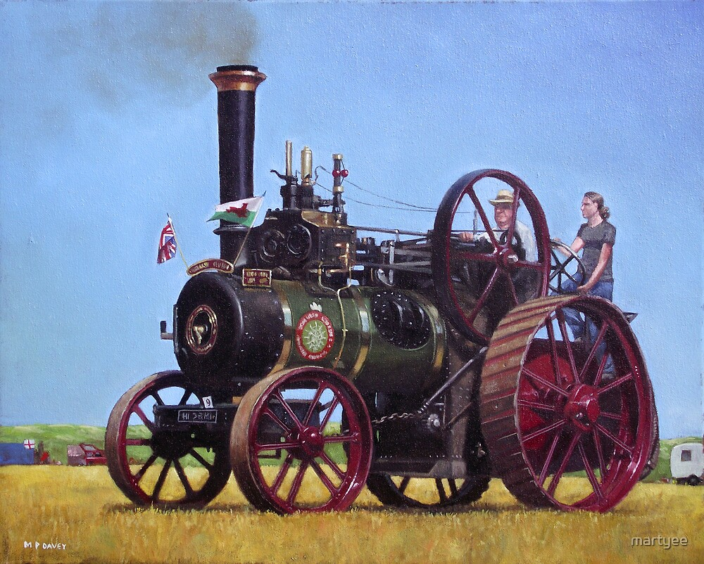 steam traction engine Ransomes Sims and Jefferies General Purpose Engine by martyee