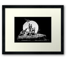 The Flag Banksy Framed Print