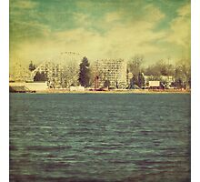 """Lakeside Amusement Park"" Photographic Print"