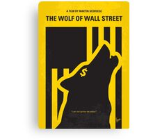 No338 My wolf of wallstreet minimal movie poster Canvas Print