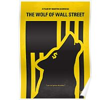 No338 My wolf of wallstreet minimal movie poster Poster
