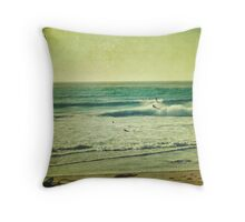 """Windy Day on the Waves"" Throw Pillow"
