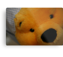 Pooh Bear up close with a glint in the eye Metal Print