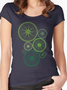 DRIVE GREEN Women's Fitted Scoop T-Shirt