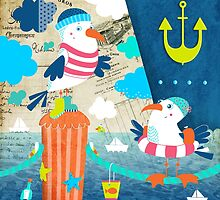 At the Harbour - Ahoy! by Johanna Fritz