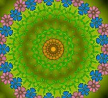 Green abstract pattern Sticker