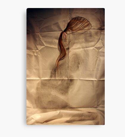 she crumpled like silk Canvas Print