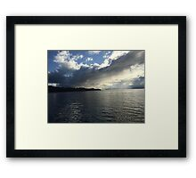 Condensation over Ocean Sensation Framed Print