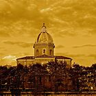 Church with Cloudy Sky - Sepia (Rome, Italy) by Lori  Heiss