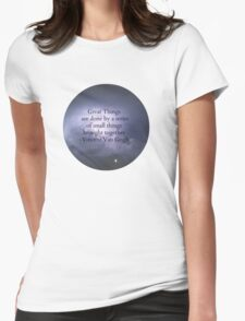 Great Things - Van Gogh Womens Fitted T-Shirt
