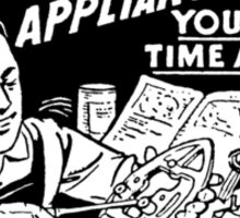 Vintage Ad - Learn Appliance Repair Sticker
