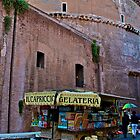 The Pantheon & Gelato Cart (Rome, Italy) by Lori  Heiss