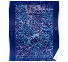 USGS Topo Map Oregon Oregon City 282773 1914 62500 Inverted Poster