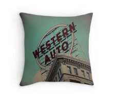 Western Auto Building - Kansas City, Missouri Throw Pillow