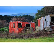 Rustic Red Shed Photographic Print