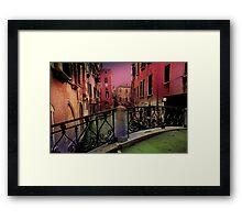 Venice little bridge Framed Print