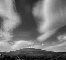 Monchrome  view of Mt. Etna by Andrea Rapisarda