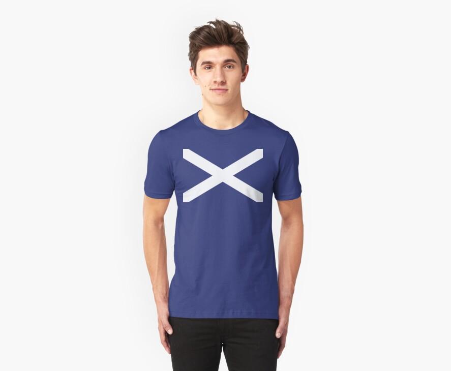 St. Andrew's Cross - Scottish Flag by weijiahua