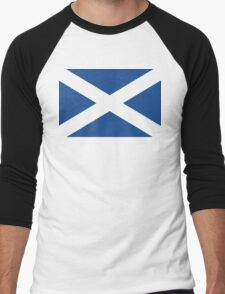 St. Andrew's Cross - Scottish Flag (design 2) Men's Baseball ¾ T-Shirt