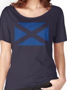 St. Andrew's Cross - Scottish Flag (design 2) Women's Relaxed Fit T-Shirt