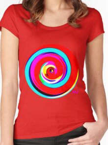All The Colours 01 Women's Fitted Scoop T-Shirt