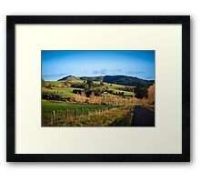 On The Rural Road Framed Print