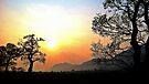 Hazy Sunset over the Ochil Hills by abinning