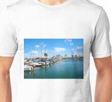 Honolulu Harbor Waikiki Unisex T-Shirt