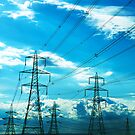 Pylons and Power Lines by abinning