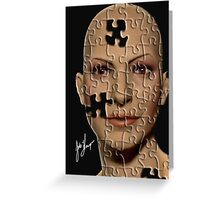 Puzzle Head Greeting Card