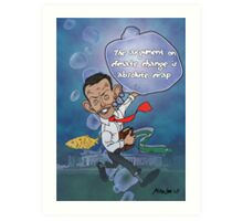 "Tony Abbott: The ""Sceptical"" Submariner Art Print"
