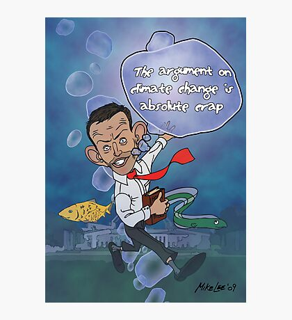 "Tony Abbott: The ""Sceptical"" Submariner Photographic Print"