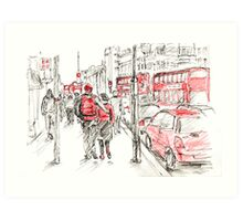 Red Objects in London - 2011 Art Print