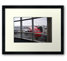 Airport Window Framed Print