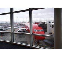 Airport Window Photographic Print