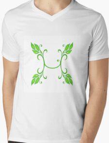 Letter H Mens V-Neck T-Shirt