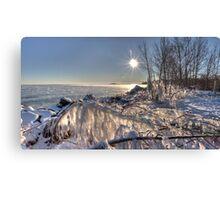 Frozen Beach Canvas Print