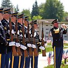 Honor Guard at a Memorial Day Service by the57man