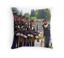 Honor Guard at a Memorial Day Service Throw Pillow