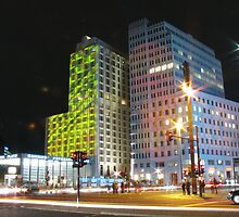 Potsdamer Platz at night by Andre090904